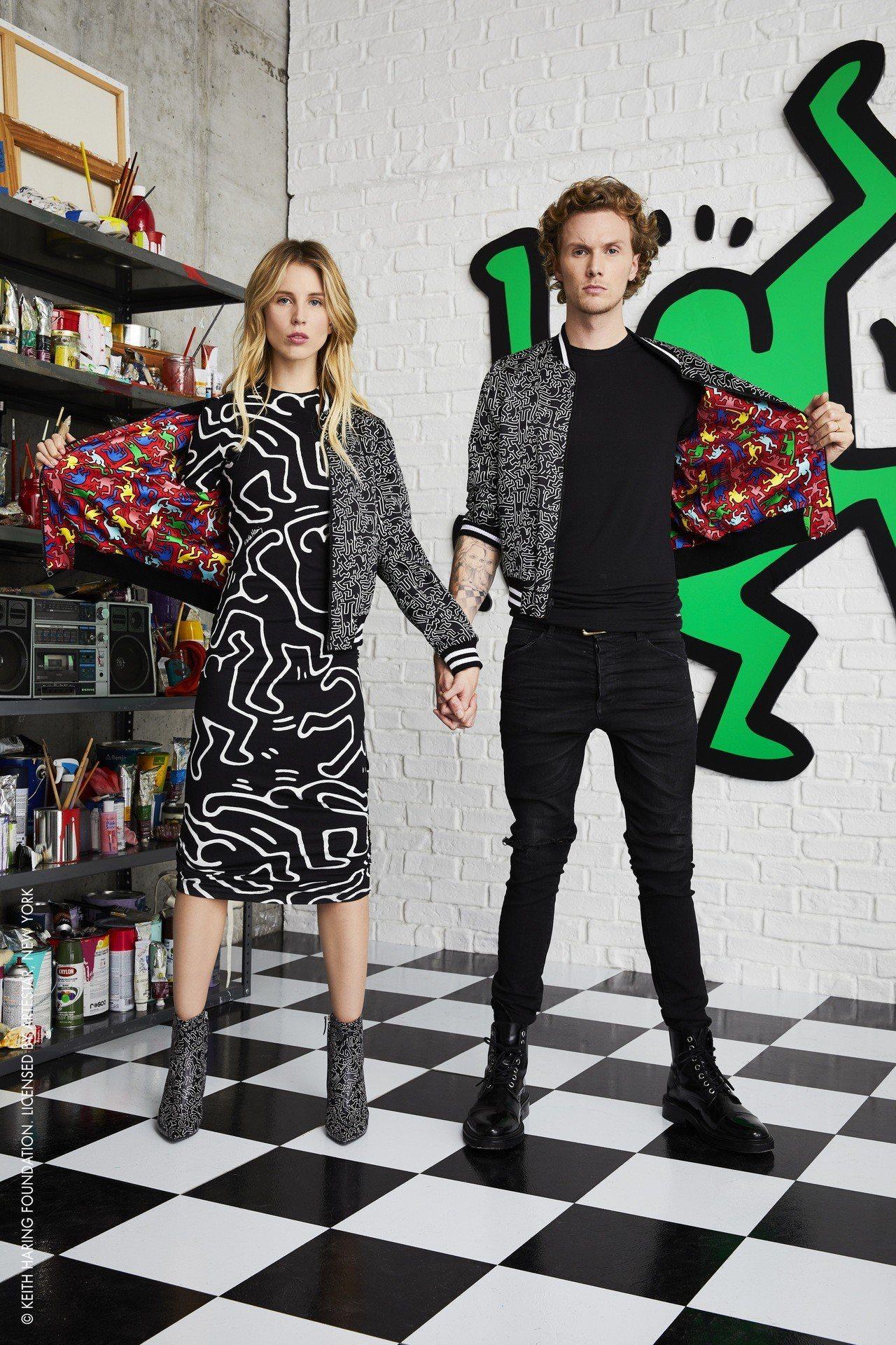 alice + olivia推出以紐約塗鴉藝術家Keith Haring的藝術創...