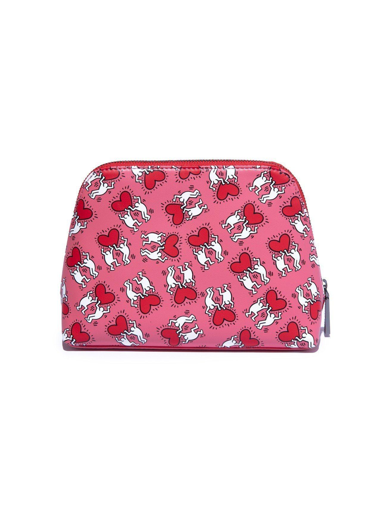 蜜桃粉滿版跳舞人偶塗鴉手拿包,5,200元。圖/alice + olivia提供