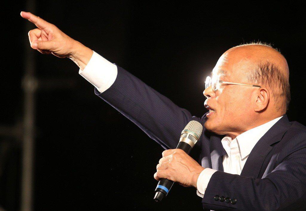 民進黨新北市候選人蘇貞昌。 圖/聯合報系資料照