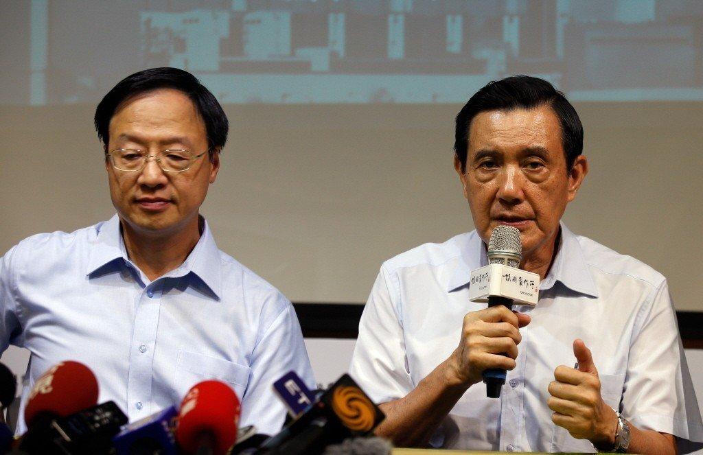 前總統馬英九(右)與行政院前院長江宜樺(左)。 圖/聯合報系資料照