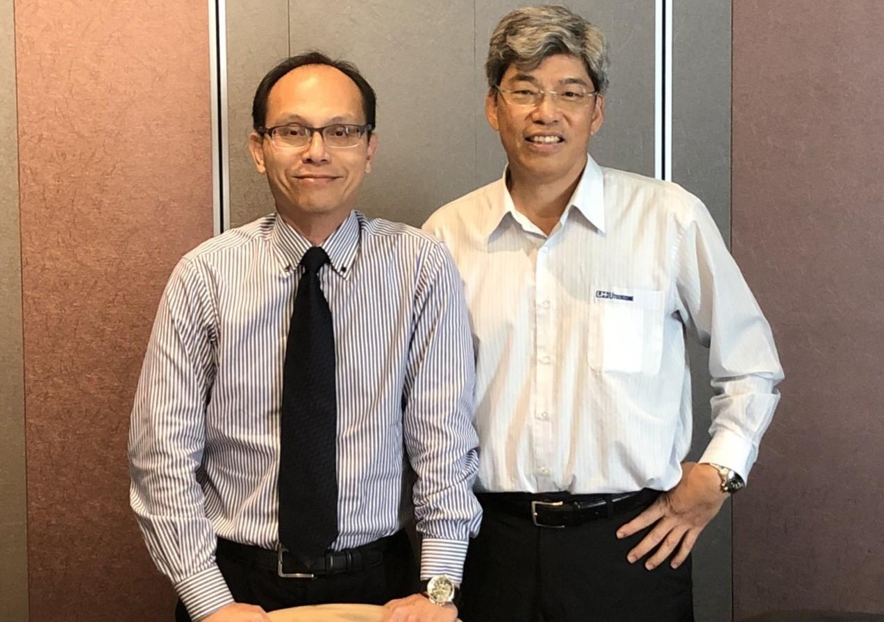 由田董事長鄒嘉駿(左)、副總經理兼發言人林芳隆(右)。記者吳凱中/攝影