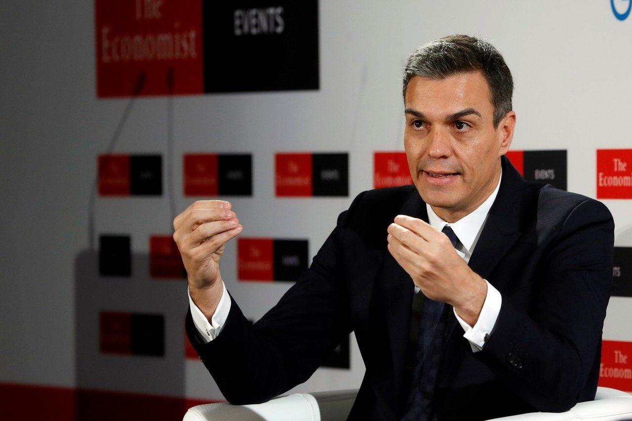 西班牙總理桑傑士(Pedro Sanchez)。 歐新社