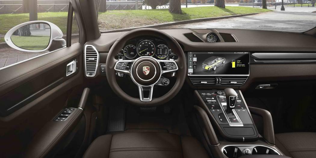 全新Porsche Cayenne E-Hybrid內裝。 圖/台灣保時捷提供