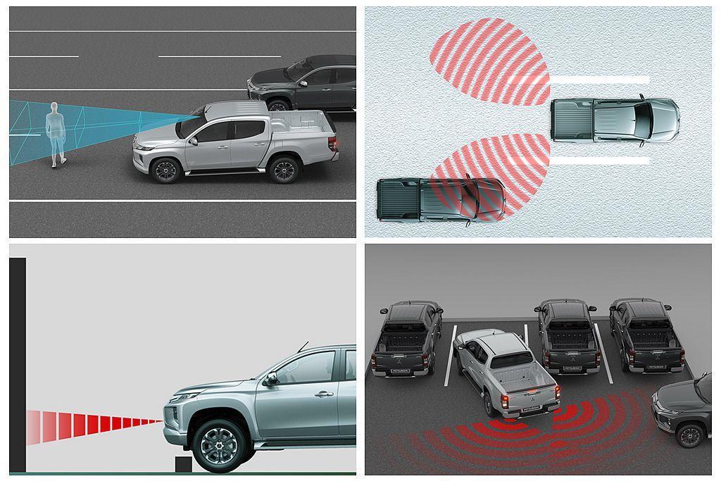 小改款三菱Triton也將FCM主動式智慧煞車輔助系統、BSW盲點偵測系統、LC...