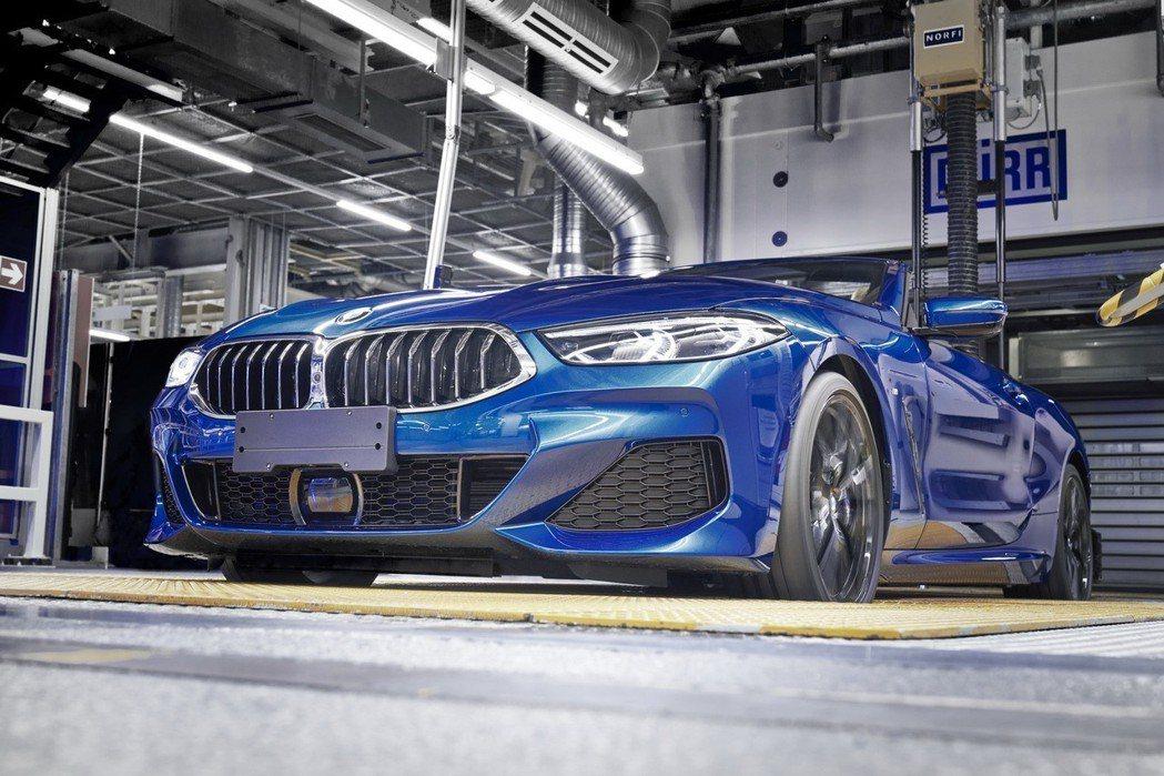 全新BMW 8 Series Convertible的車頂篷可在15內啟閉。 摘自BMW