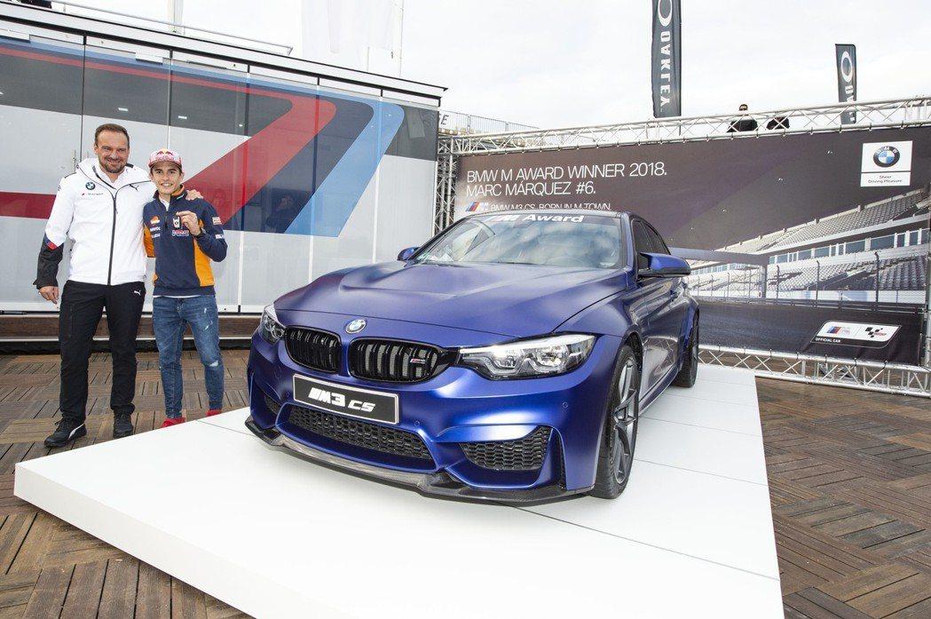 2018年MotoGP BMW M Award得主Marc Marquez。 摘...