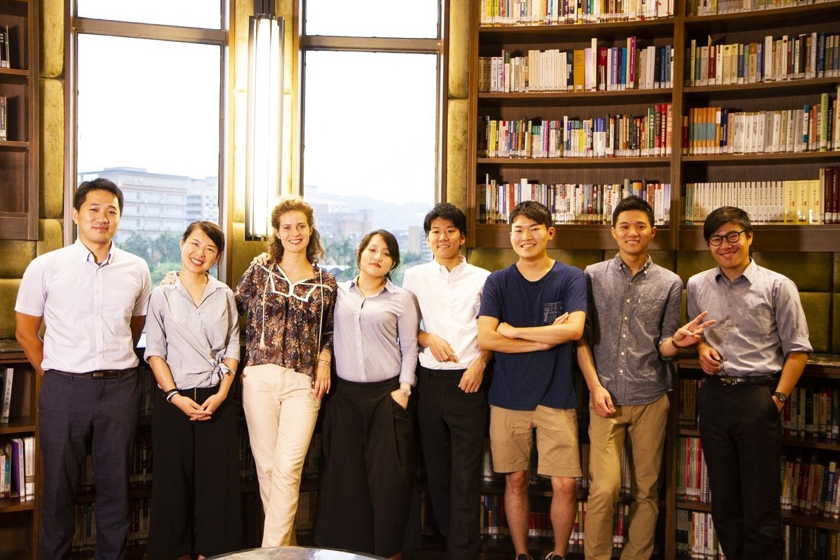 第一屆臺大-筑波大學-波爾多大學三聯學程學生。
