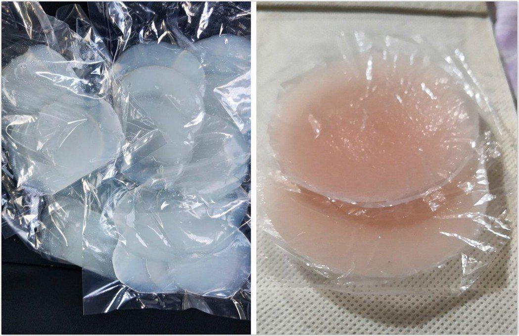 也有不少網友說這種綠豆粉粿很像Nubra或透明粉撲。 圖片來源/●【爆怨公社】...