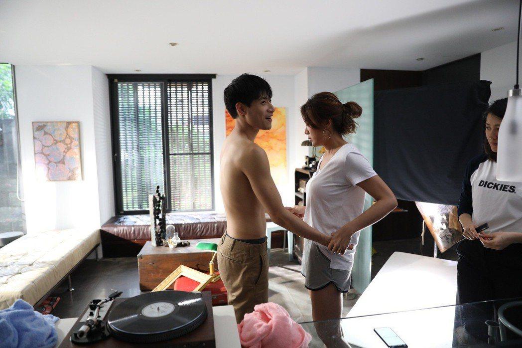 小禎和陳彥名有多場親密戲。圖/愛貝克思提供
