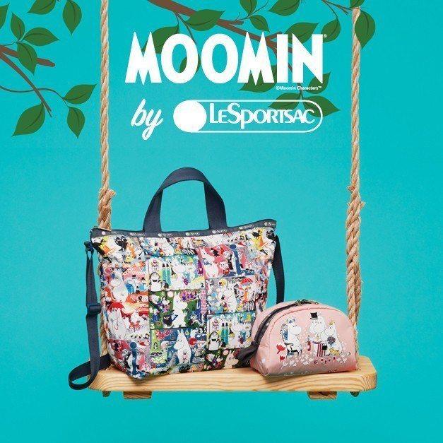 Moomin x LeSportsac。圖/LeSportsac提供