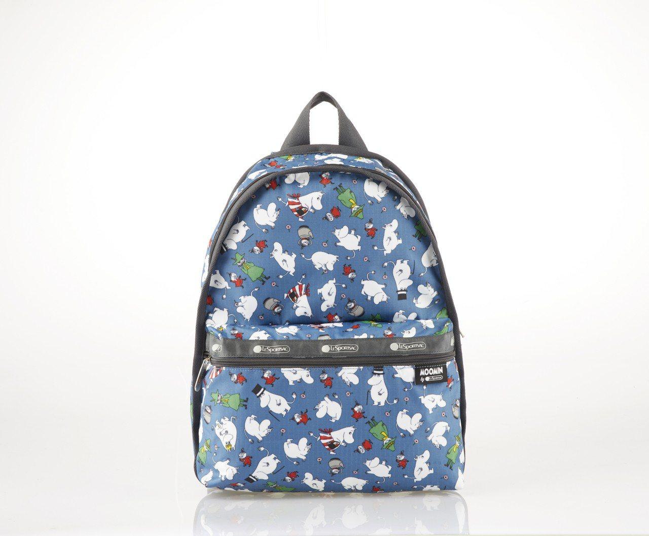 Moomin和好朋友後背包,6,150元。圖/LeSportsac提供
