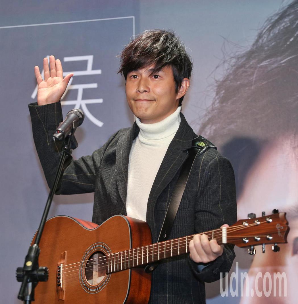 孫協志發新EP,今舉行記者會宣傳。記者鄭清元/攝影