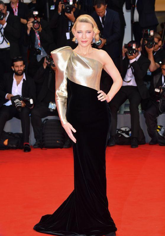 凱特布蘭琪穿Armani Privé訂製服,展現美好身段。圖/取自celebma...
