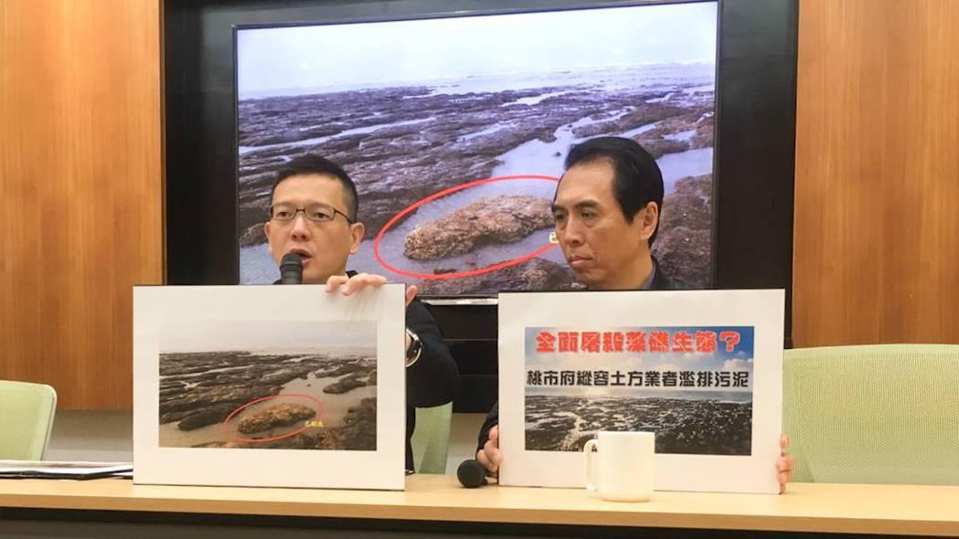 陳學聖(右)和孫大千(左)舉行記者會。陳學聖辦公室提供