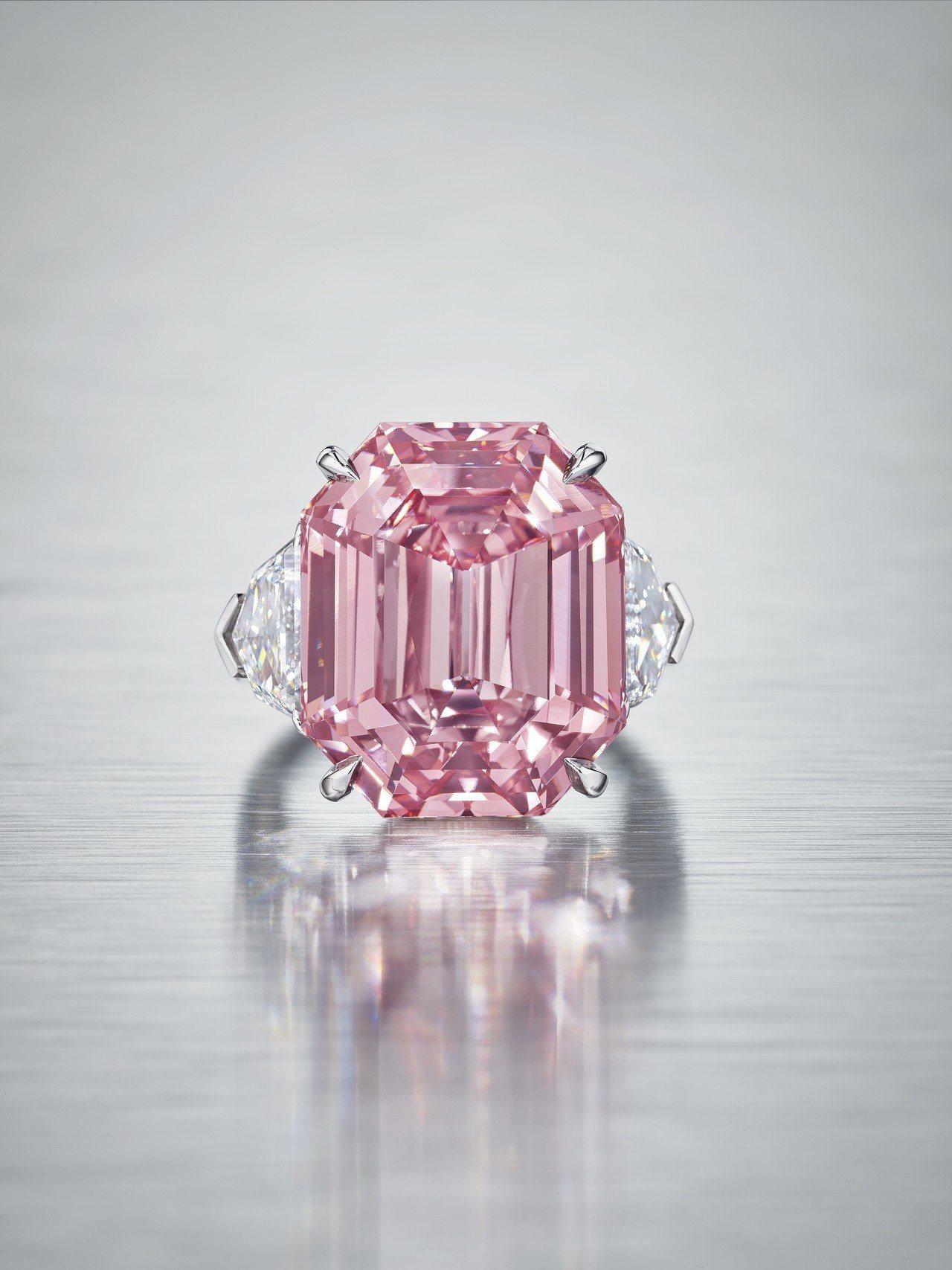 刷新世界拍賣紀錄的海瑞溫斯頓The Winston Pink Legacy粉鑽。...