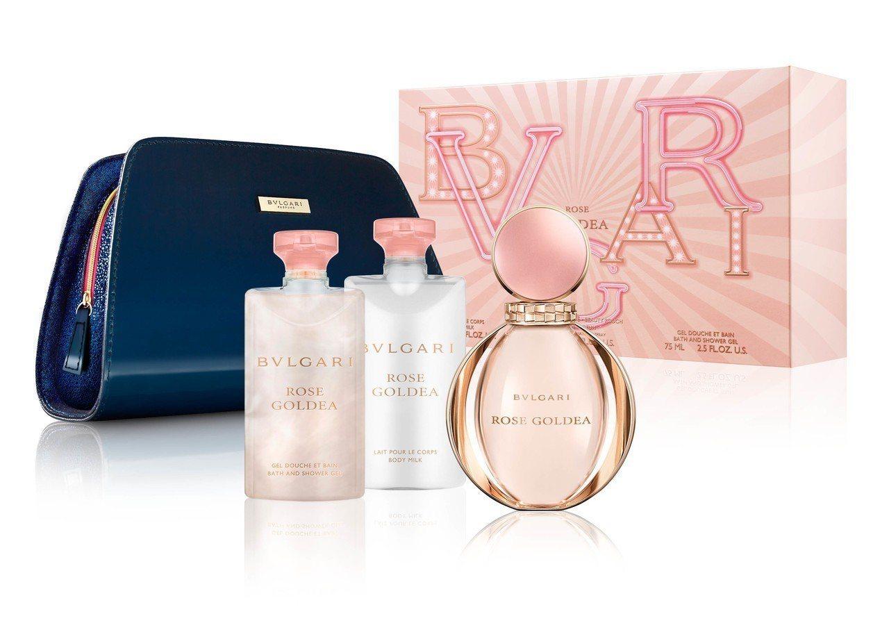 BVLGARI寶格麗玫瑰金漾耶誕禮盒2018,內含淡香精90ml、同款香氛身體乳...