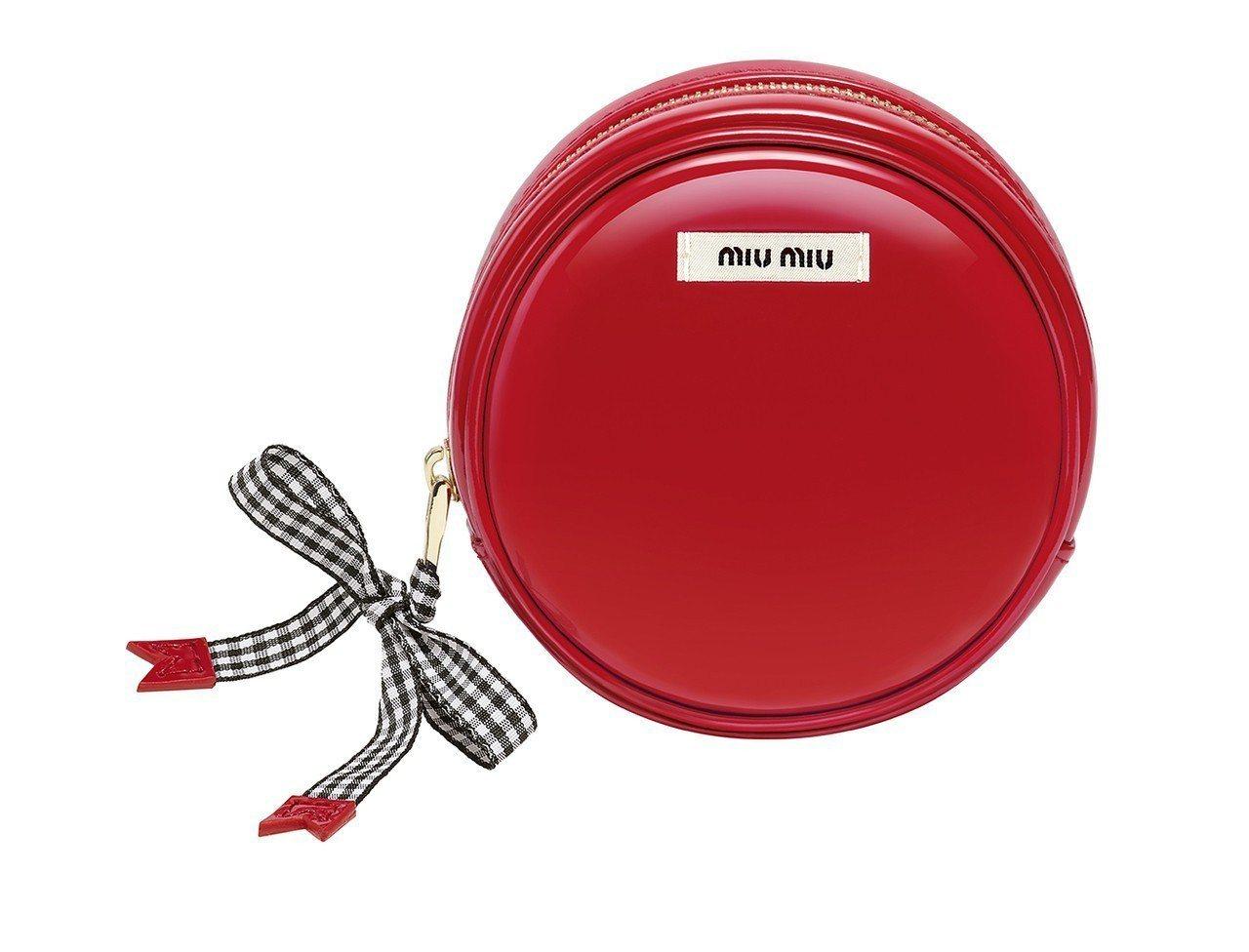 miu miu復古漆皮圓形化妝包是盧亞香水新光三越台南店、漢神百貨B1科蒂精品的...