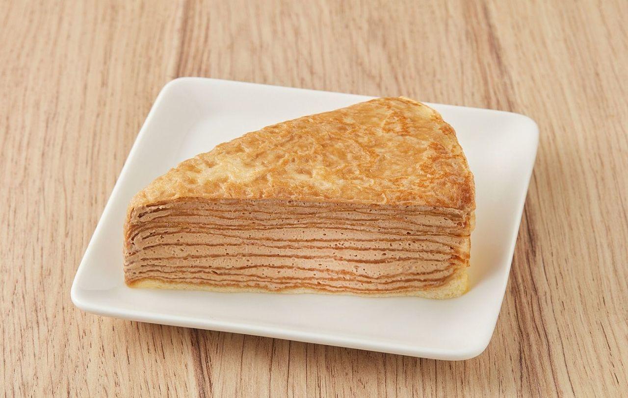 「全聯We Sweet咖啡館系列」義式咖啡千層蛋糕(48g/盒/58元)。圖/全...