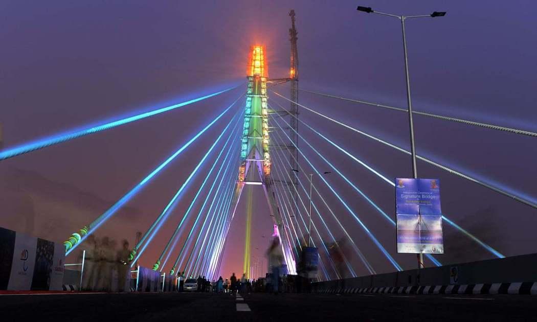 德里熱門拍照景點地標橋。 (法新社)