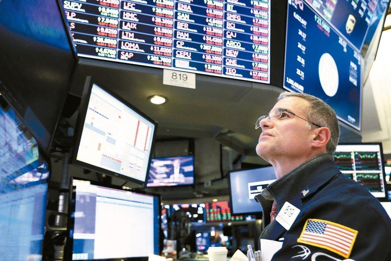 美股大跌,美電子期指續跌。 本報系資料庫