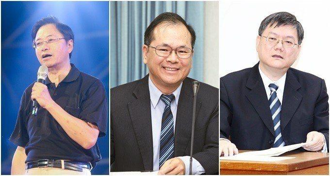 韓國瑜的的智囊團集結馬政府時代重要內閣成員,行政院長張善政(左)、前國發會主委林...