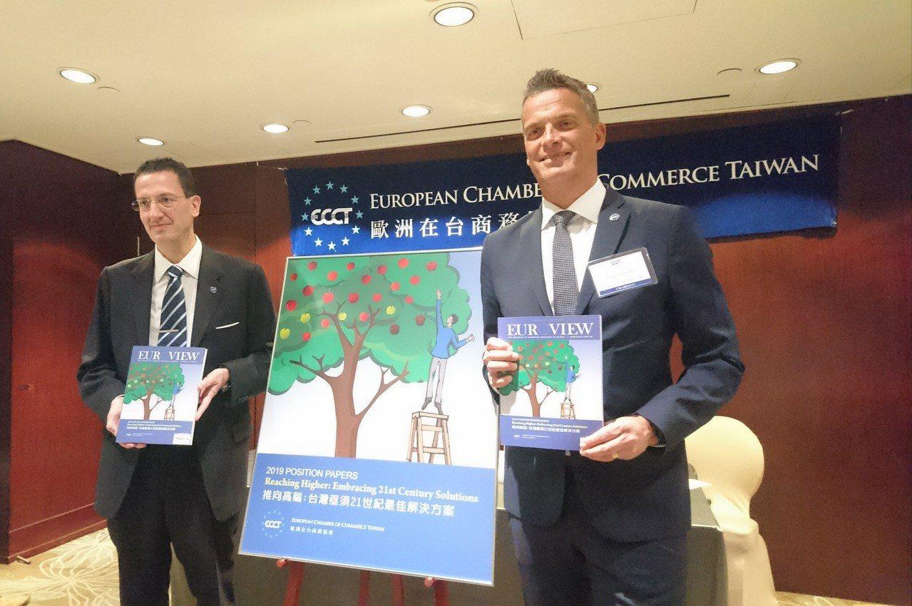 歐洲商會21日發布2019年建議書,在資產管理、生活品質、人力資源、風力能源等不...