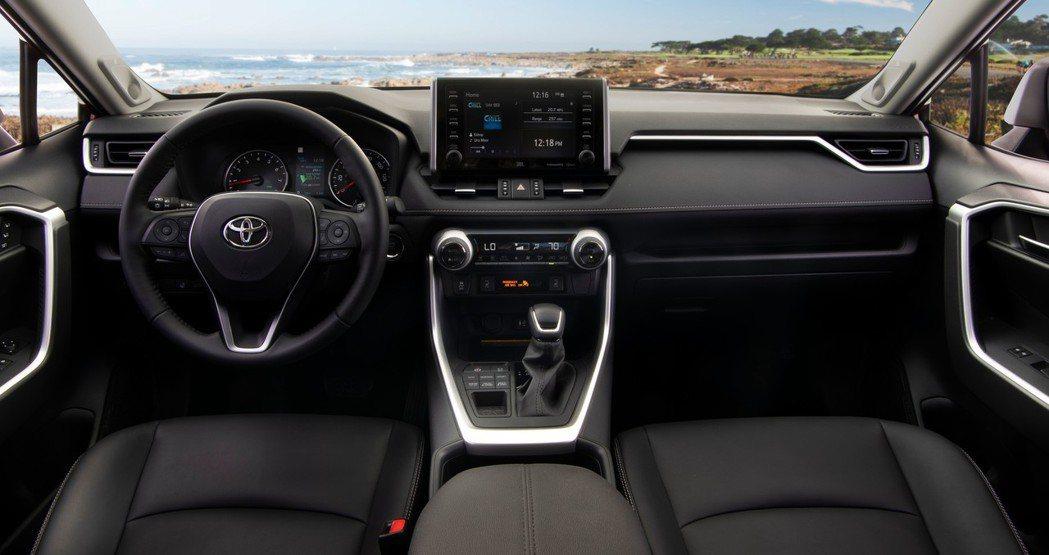 新世代Toyota RAV4內裝(圖為美規車型)。 摘自Toyota