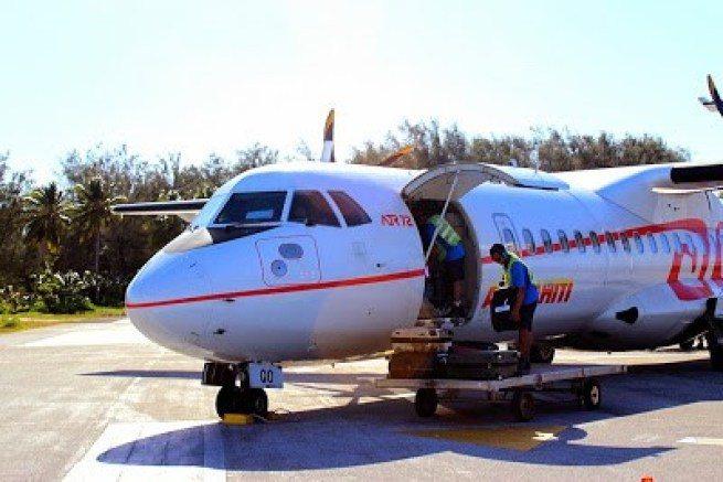Air Tahiti的島間航班,是螺旋槳小飛機 圖文來自於:TripPlus