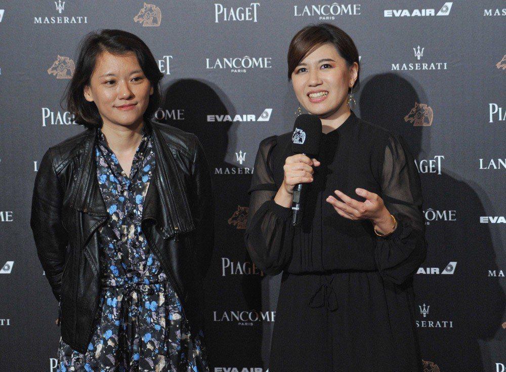 傅榆(右)的得獎感言,震撼本屆金馬獎。 攝影/甘岱民