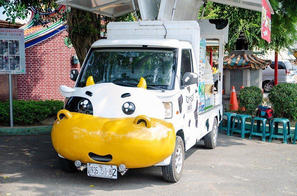 (圖/台灣旅行趣) ▲原來是賣霜淇淋與雞蛋糕的可愛餐車。