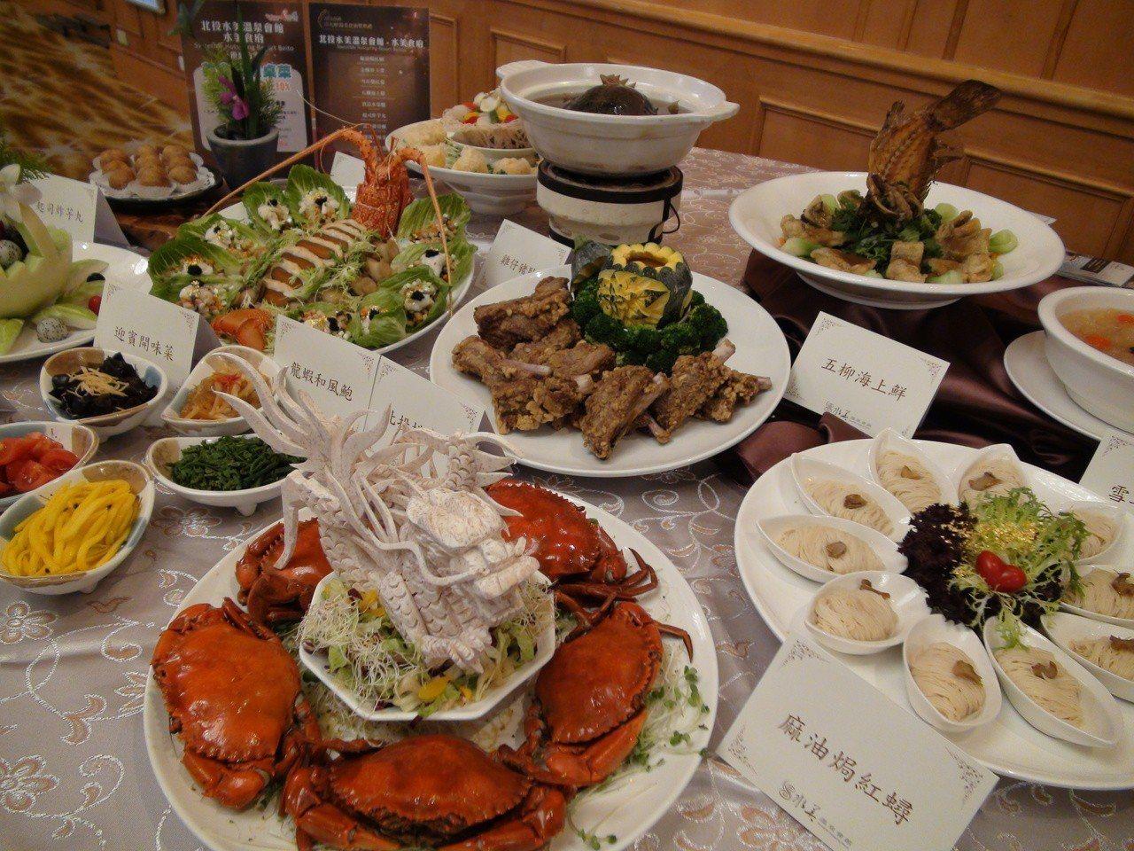 台灣的溫泉小鎮推養生又好吃的「溫泉美食」,經過專家評選,昨天在高雄漢來飯店辦發表...