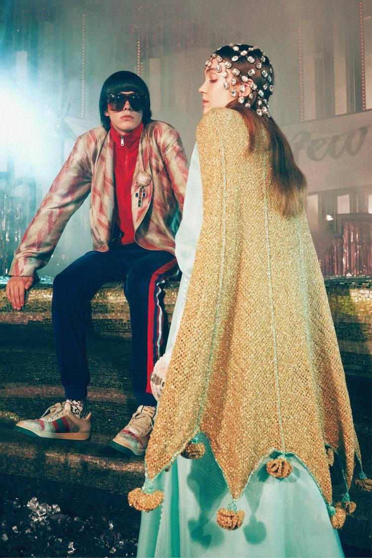 Gucci今年的Gift Giving禮讚系列廣告在義大利都靈的國王舞廳 (Le...