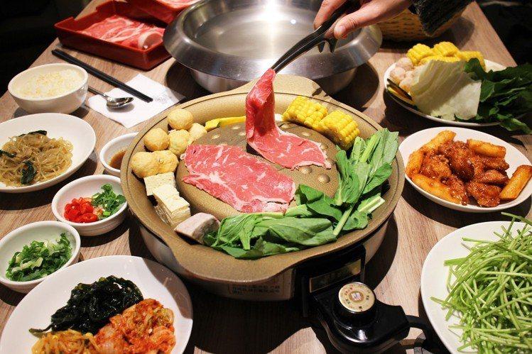 銅盤供應有韓式銅盤烤肉、火鍋等料理。圖/銅盤提供