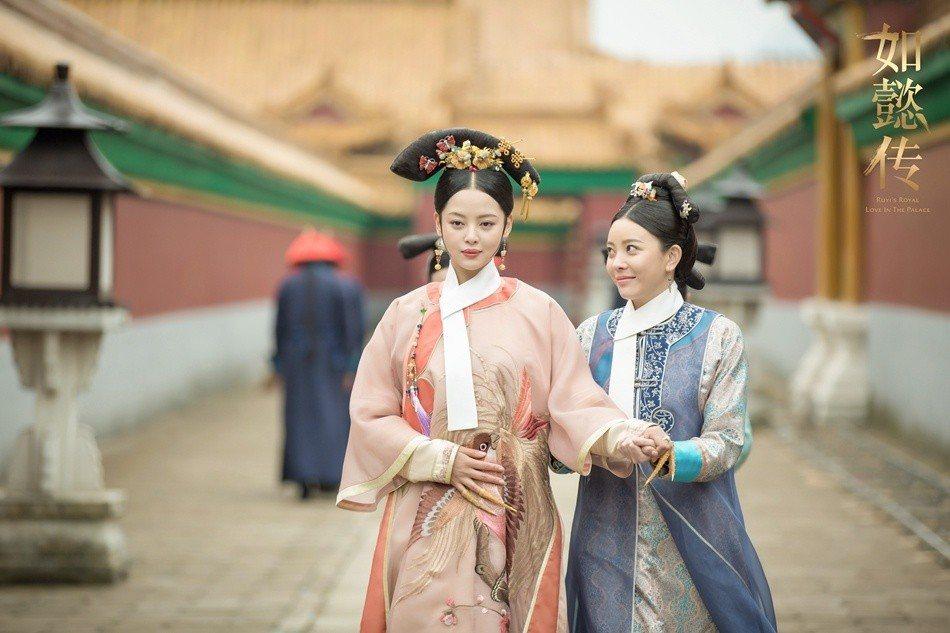 嘉貴妃辛芷蕾(左)。圖/緯來戲劇台提供