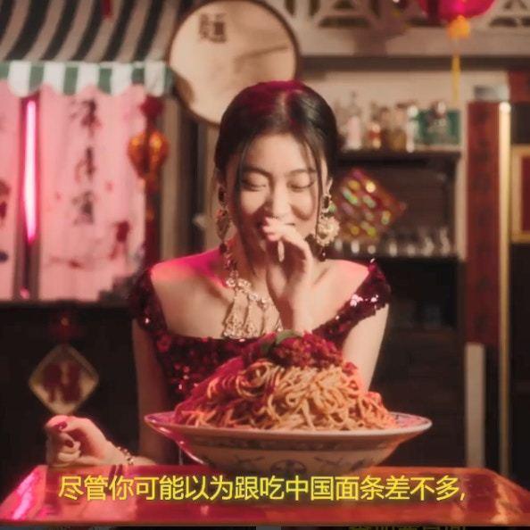 Dolce & Gabbana在IG惹議的影片截圖。圖/截自IG
