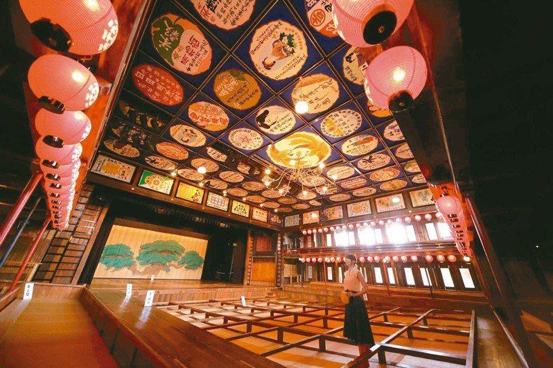 「八千代座」歌舞伎劇場被指定為國家重要文化財。 圖╱山鹿溫泉觀光協會提供
