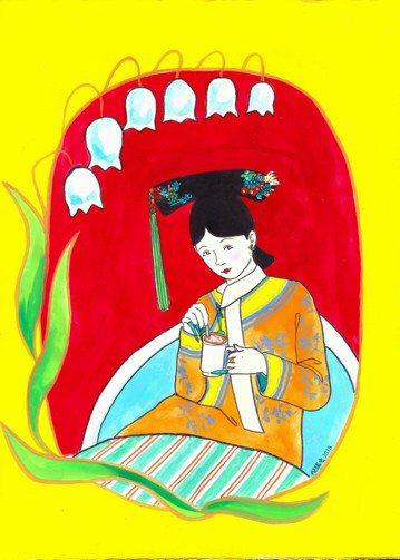 今年為金曲獎繪動畫的畫家倪瑞宏,這次幫電視台即將播出的「如懿傳」繪製2款如懿卡漫圖。倪瑞宏以拿手似顏繪畫風,畫出正在喝咖啡的如懿,古今交錯卻無違合,還帶些許喜感。繼「後宮甄嬛傳」、「延禧攻略」後,宮...