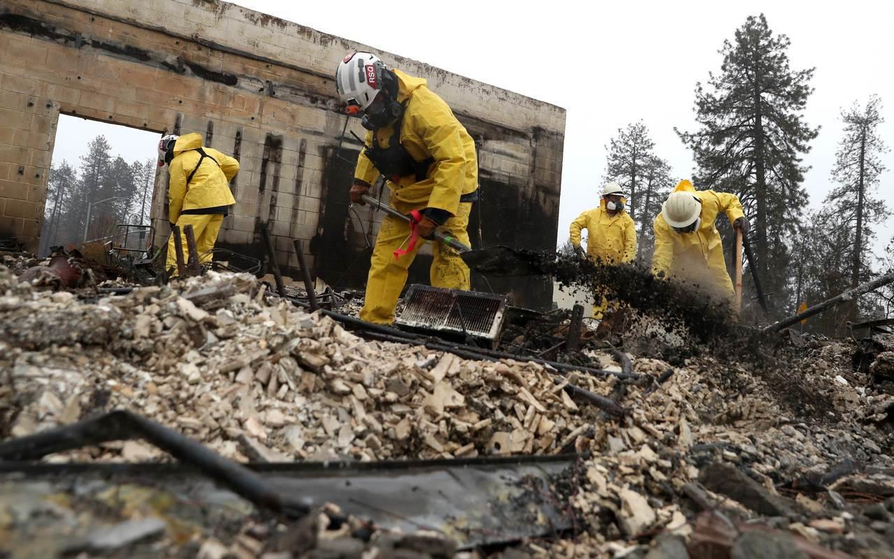 加州北部野火造成的死亡人數增至83人。 法新社
