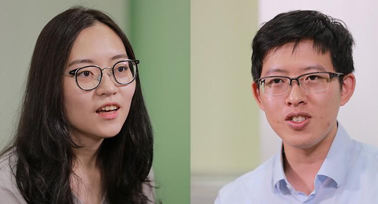 何晨安同學(左)黃政維同學(右)。