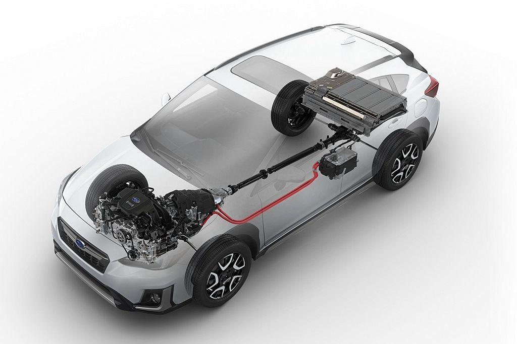 Subaru StarDrive技術採用兩具電動馬達,其中一具除是啟動馬達集合發電機外,亦可額外提供引擎出力輔助。 圖/Subaru提供