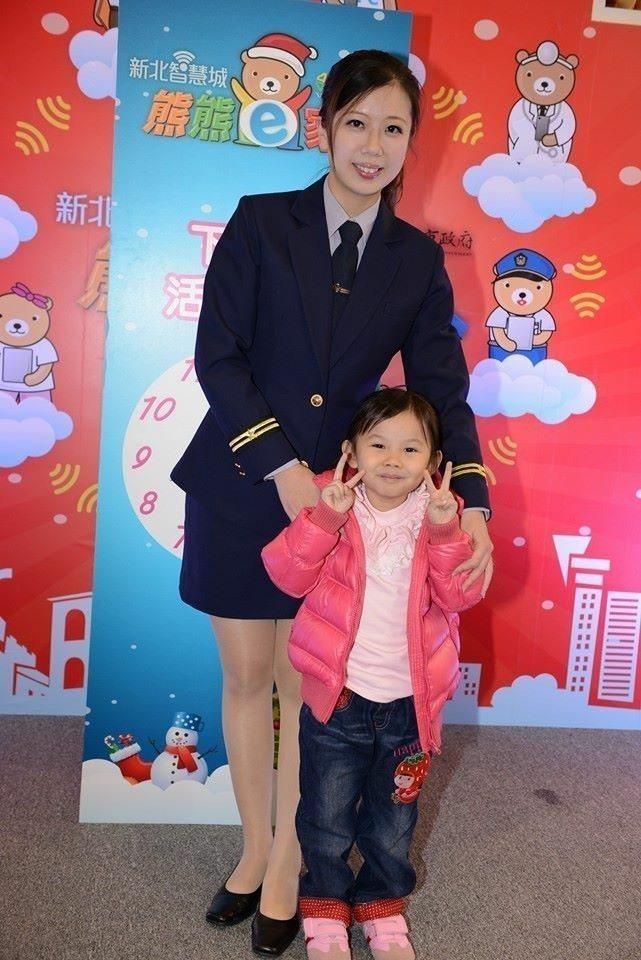 警花所長張惠慈是「iPolice」APP推廣大使。記者袁志豪/翻攝