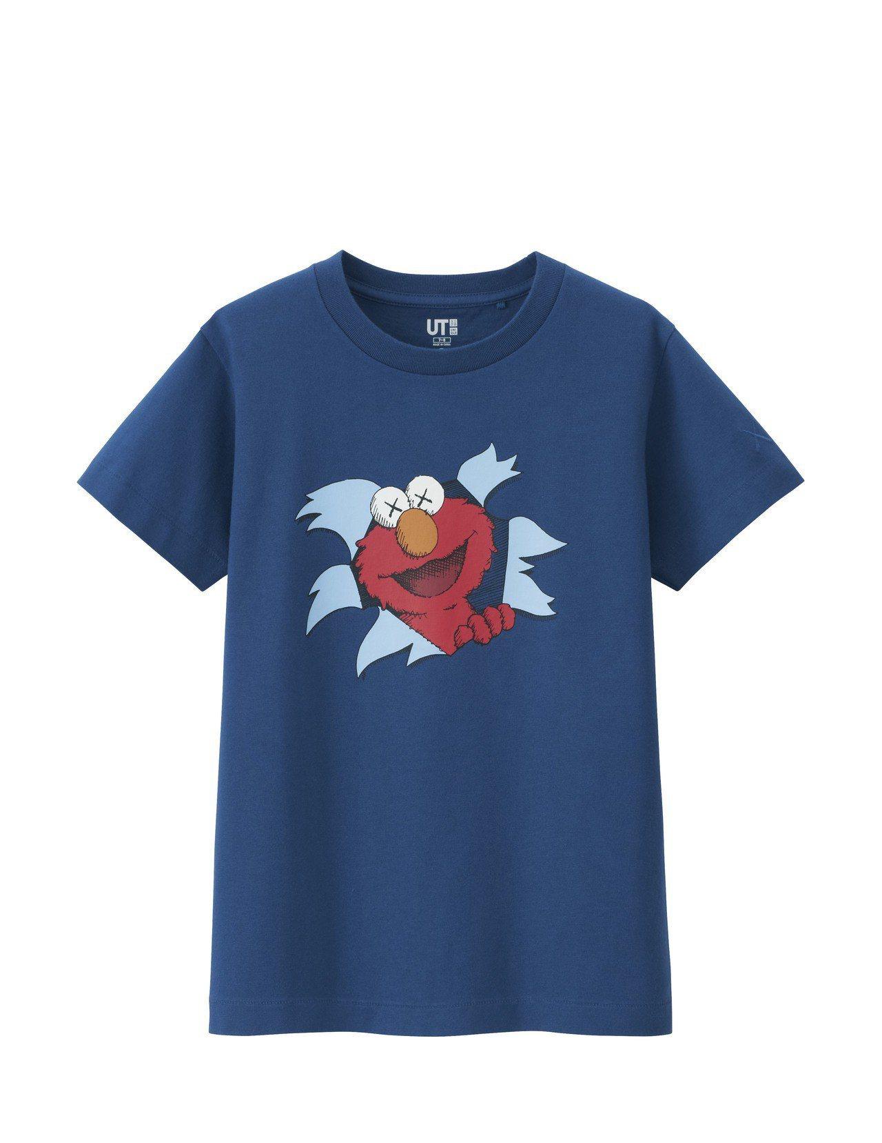 KAWS X SESAME STREET T恤(童),售價390元。圖/UNIQ...