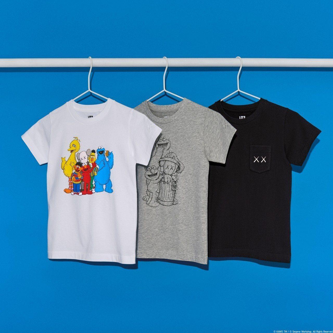 KAWS x芝麻街系列11月23日開賣。圖/UNIQLO提供