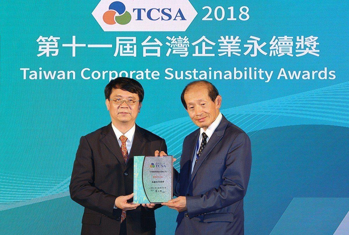 華映今(22)日獲台灣企業永續學院頒發「2018 TCSA台灣企業永續獎」雙料獎...