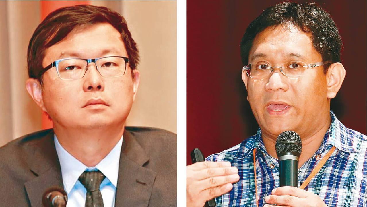 農委會副主委李退之(左)被指辭退豐年社社長汪文豪(右)。 圖/聯合報系資料照片