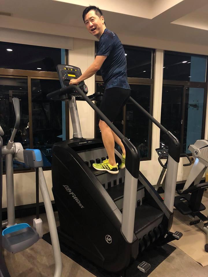 哈林平常就愛運動。圖/摘自臉書