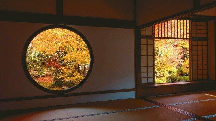 「源光庵」擁有京都最美、最特別的「額緣庭園」。 圖/梁旅珠提供