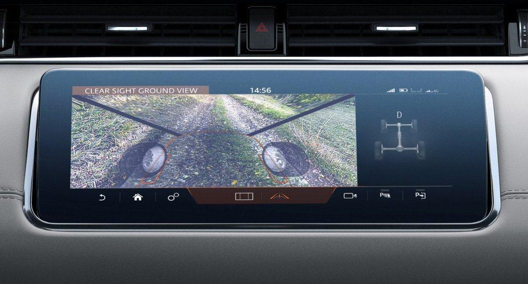 新世代Range Rover Evoque首度導入了ClearSight Gro...