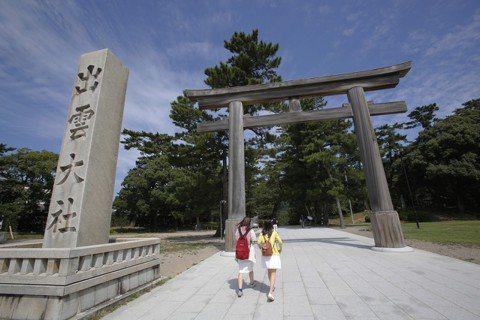 出雲大社位於島根縣出雲市,是日本最古老的神社之一。 圖/美聯社