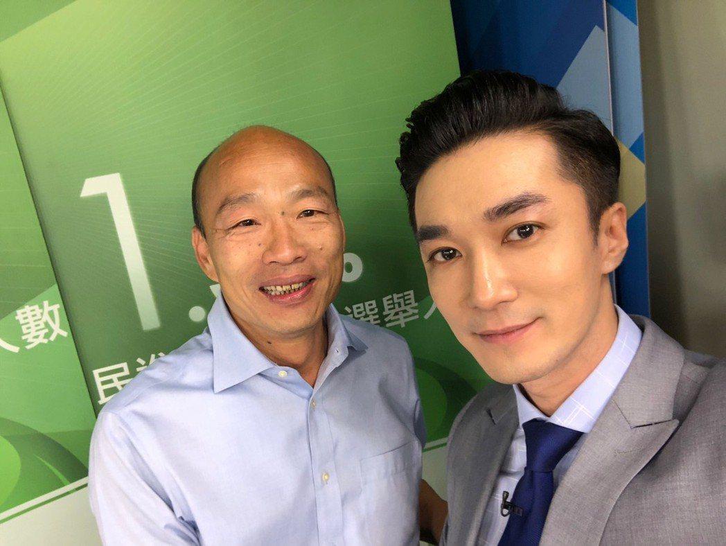 王又正(右)因為韓國瑜也獲得大批粉絲支持  圖/王又正提供